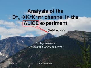 Analysis of the D + s  K + K  - π +  channel in the ALICE experiment