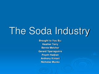 The Soda Industry
