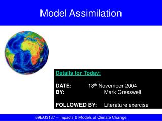 Model Assimilation