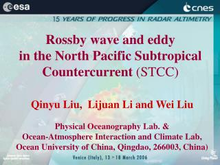 Rossby wave and eddy  in the North Pacific Subtropical Countercurrent  (STCC)