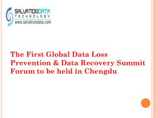 The First Global Data Loss Prevention & Data Recovery Summit