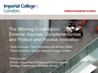 The Winning Combination: External Sources, Complementarities and Product and Process Innovation