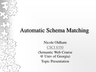Automatic Schema Matching
