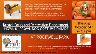 Bristol Parks and Recreation Department HOWL  N' PROWL DOG COSTUME PARADE