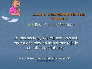 Logic and Introduction to Sets Chapter 6
