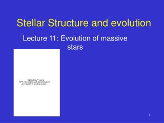 Stellar Structure and evolution