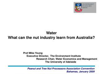 Water  What can the nut industry learn from Australia?