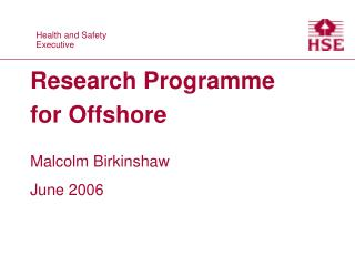 Research Programme for Offshore