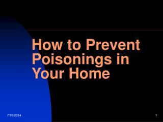 How to Prevent Poisonings in Your Home