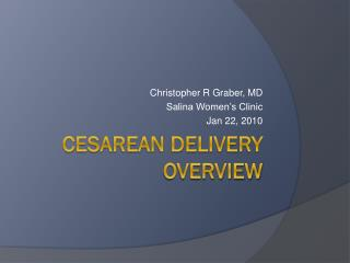 Cesarean Delivery Overview
