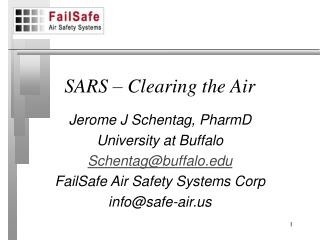 SARS – Clearing the Air