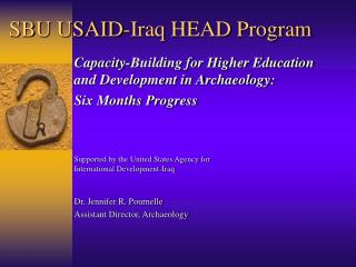 SBU USAID-Iraq HEAD Program