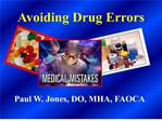 Avoiding Drug Errors