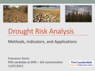 Drought Risk Analysis