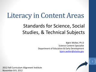 Literacy in Content Areas