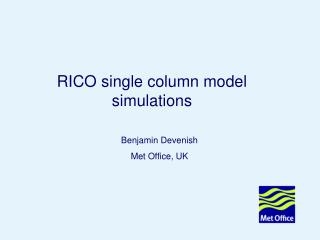 RICO single column model simulations