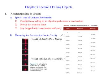 Chapter 3 Lecture 1 Falling Objects
