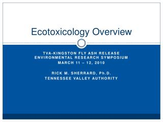 Ecotoxicology Overview