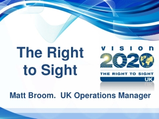 VISION 2020: The Right to Sight    international collaboration to combat avoidable blindness