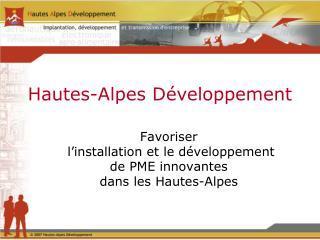 Hautes-Alpes Développement
