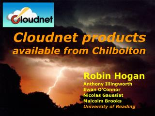 Cloudnet products available from Chilbolton