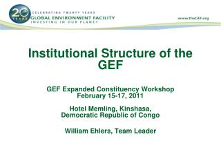 Institutional Structure of the GEF