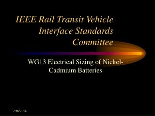 IEEE Rail Transit Vehicle Interface Standards Committee