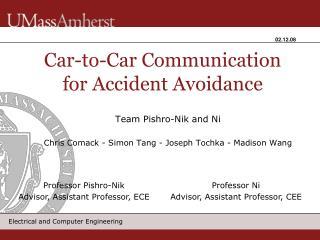 Team Pishro-Nik and Ni  Chris Comack - Simon Tang - Joseph Tochka - Madison Wang