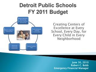 Detroit Public Schools FY 2011  Budget
