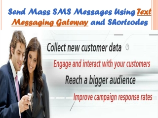 Send Mass SMS Messages Using Text Messaging Gateway and Shor