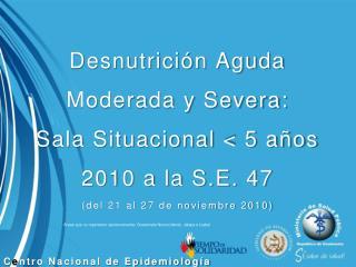 C e ntro Nacional de Epidemiología