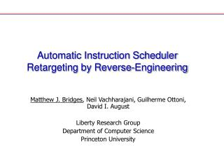 Automatic Instruction Scheduler Retargeting by Reverse-Engineering