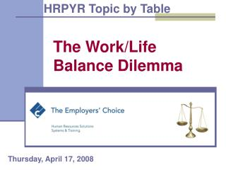 The Work/Life Balance Dilemma