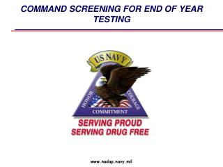 COMMAND SCREENING FOR END  OF YEAR TESTING
