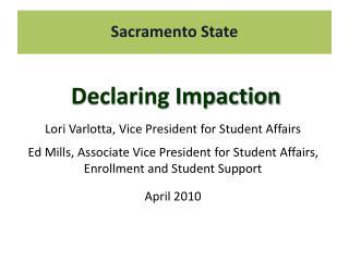 Declaring Impaction
