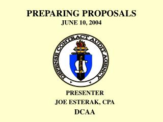 PREPARING PROPOSALS JUNE 10, 2004