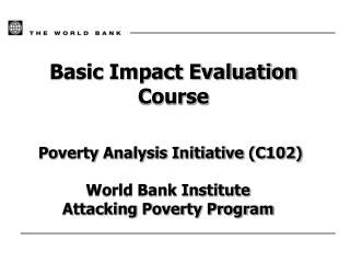 Basic Impact Evaluation Course