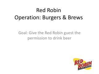 Red Robin Operation: Burgers & Brews
