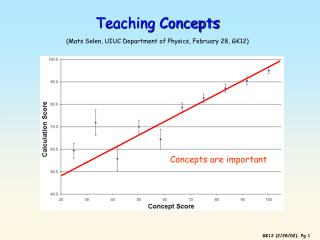 Teaching Concepts (Mats Selen, UIUC Department of Physics, February 28, GK12)