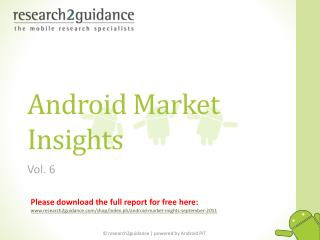Android Market Insights Vol. 6  by research2guidance