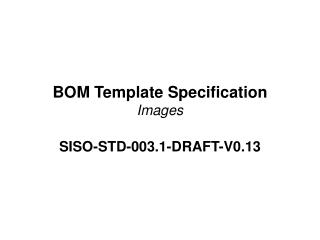 BOM Template Specification Images