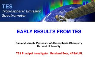 EARLY RESULTS FROM TES