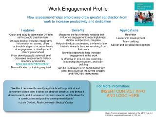 Work Engagement Profile