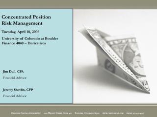 Jim Dull, CFA Financial Advisor