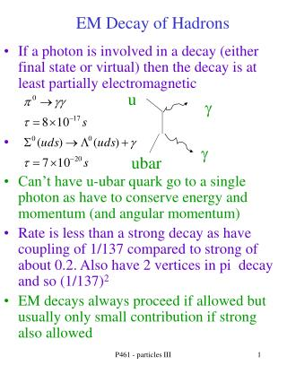 EM Decay of Hadrons