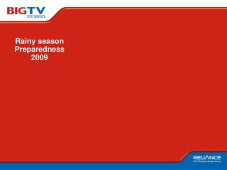 Rainy season Preparedness 2009