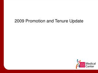 2009 Promotion and Tenure Update