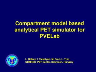 Compartment model based analytical PET simulator for PVELab