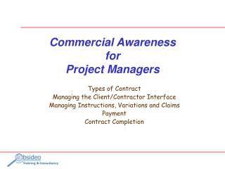 Commercial Awareness for Project Managers