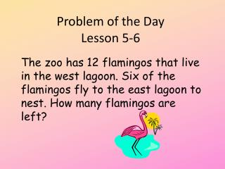 Problem of the Day  Lesson 5-6